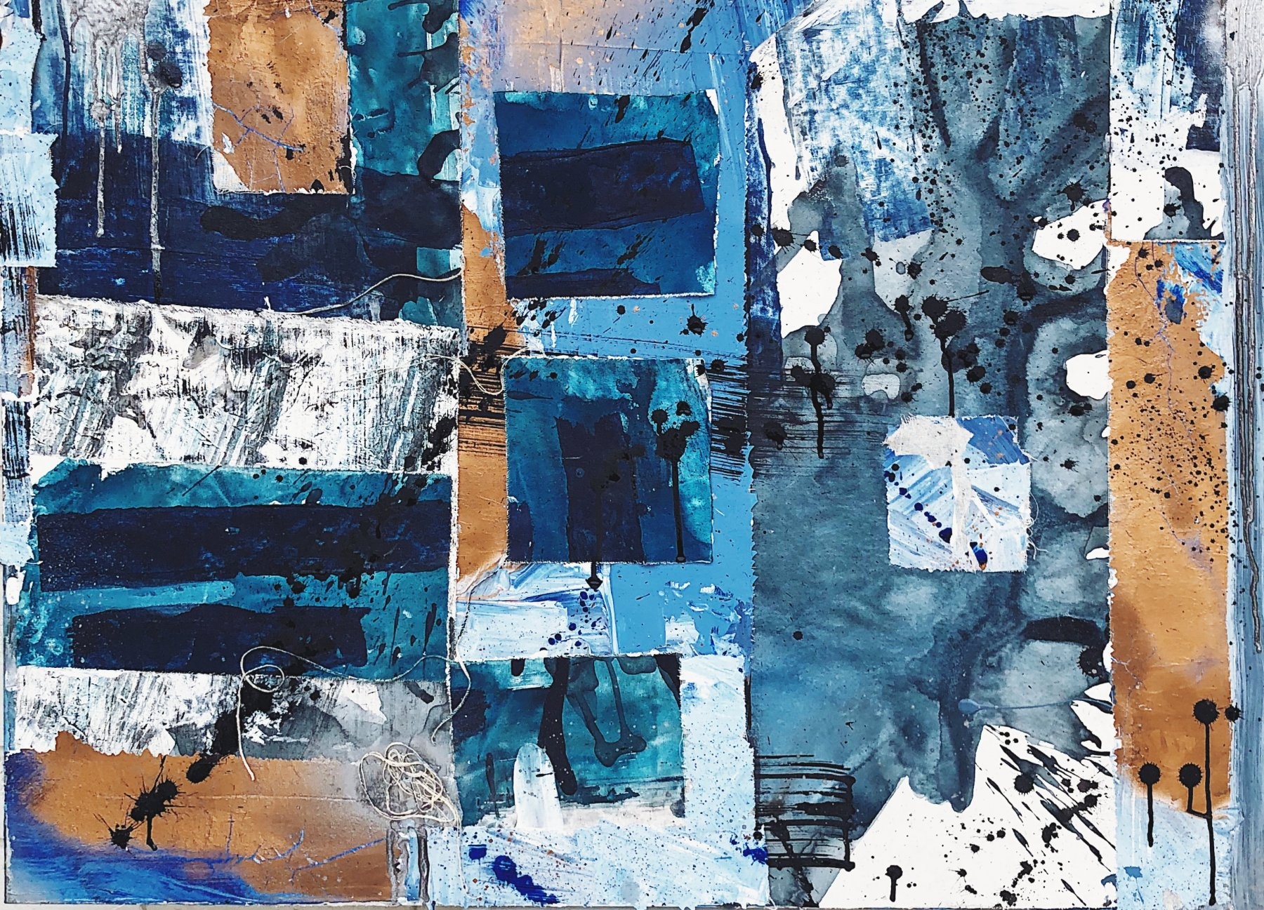 Bryn Newman Contemporary Artist - Abstract Mixed Media